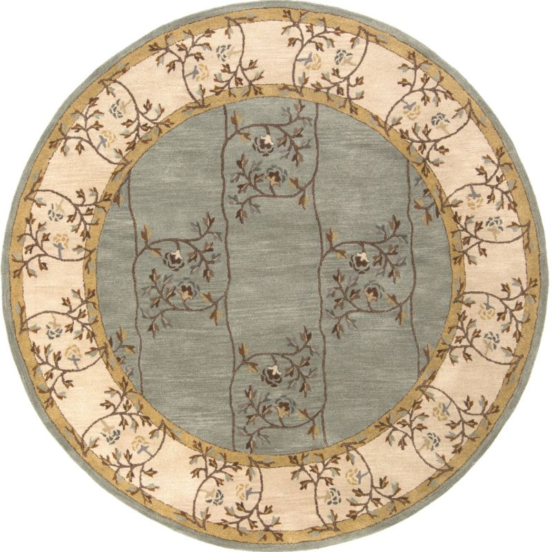 Surya CAE-1100 Caesar Hand Tufted Wool Rug Green 8 Round Home Decor