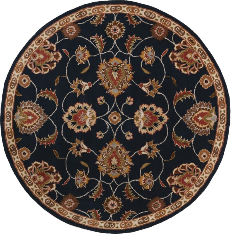 Surya CAE-1102 Caesar Hand Tufted Wool Rug Gray 4 Round Home Decor Sale $182.40 ITEM: bci2670150 ID#:CAE1102-4RD UPC: 764262858716 :