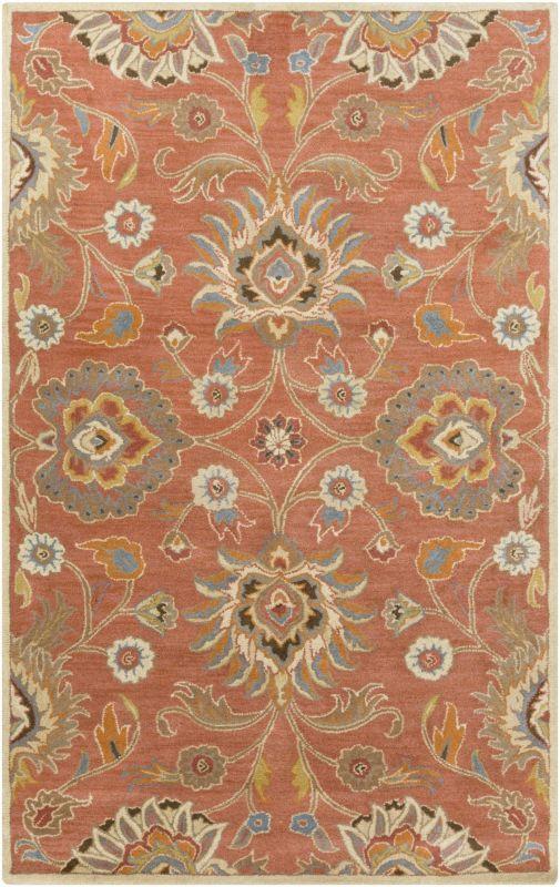 Surya CAE-1107 Caesar Hand Tufted Wool Rug Orange 10 x 14 Home Decor