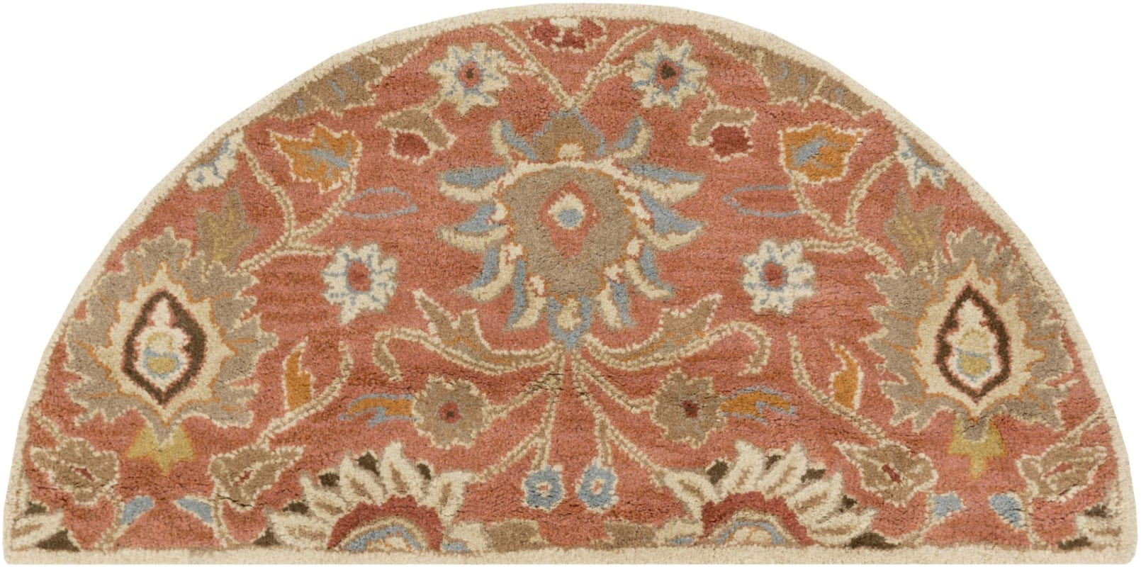 Surya CAE-1107 Caesar Hand Tufted Wool Rug Orange 2 x 4 Hearth Home