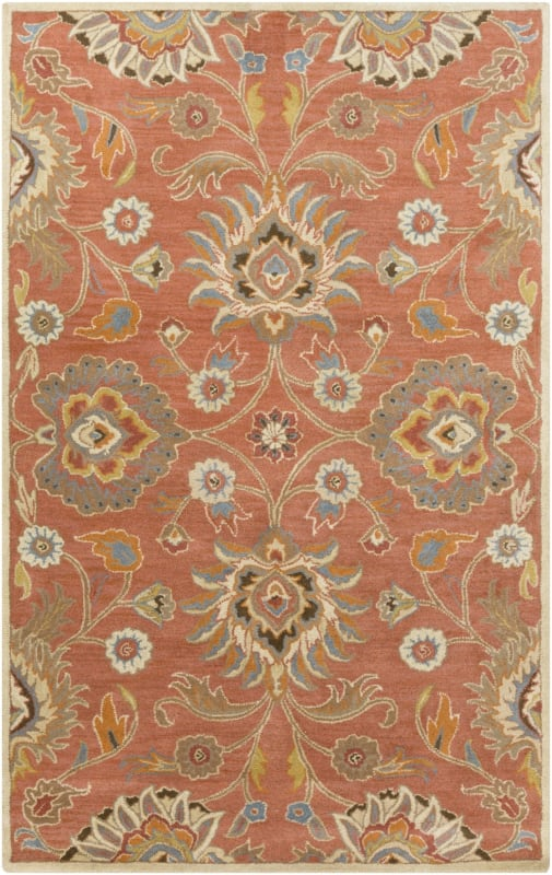 Surya CAE-1107 Caesar Hand Tufted Wool Rug Orange 4 x 6 Home Decor
