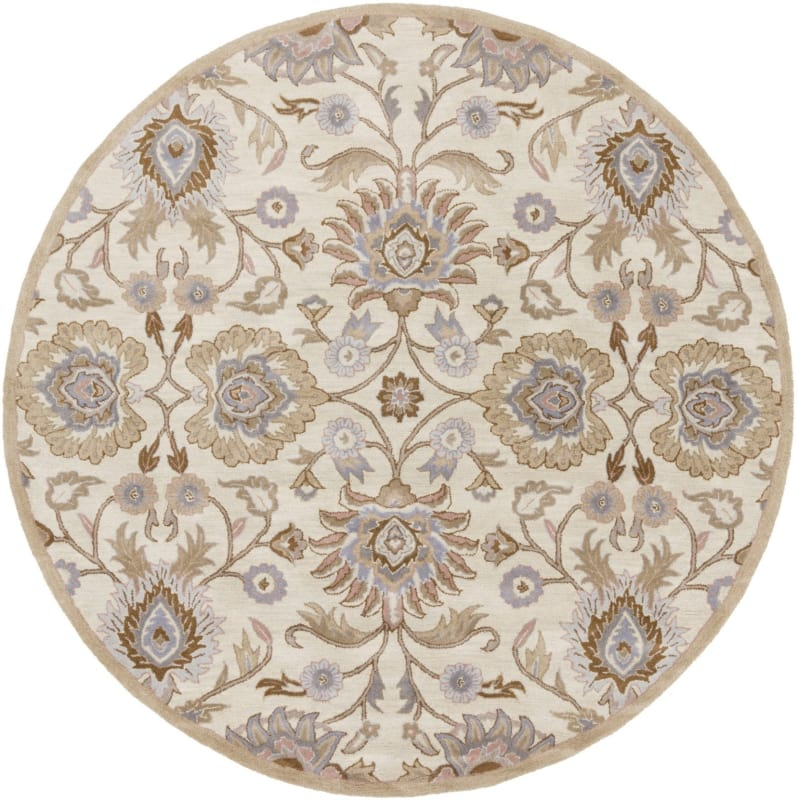 Surya CAE-1109 Caesar Hand Tufted Wool Rug Off-White 6 Round Home Sale $408.60 ITEM: bci2670536 ID#:CAE1109-6RD UPC: 764262927009 :