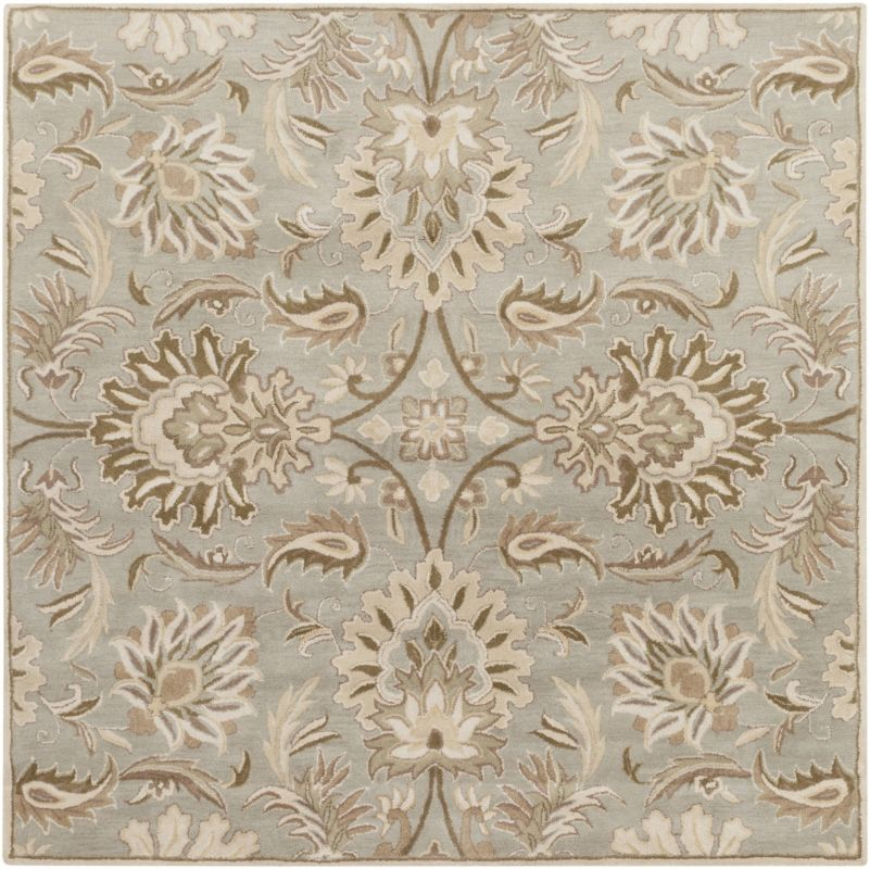 Surya CAE-1111 Caesar Hand Tufted Wool Rug Gray 4 Square Home Decor Sale $182.40 ITEM: bci2670554 ID#:CAE1111-4SQ UPC: 764262565485 :