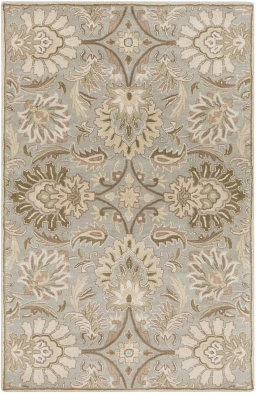 Surya CAE-1111 Caesar Hand Tufted Wool Rug Gray 5 x 8 Home Decor Rugs