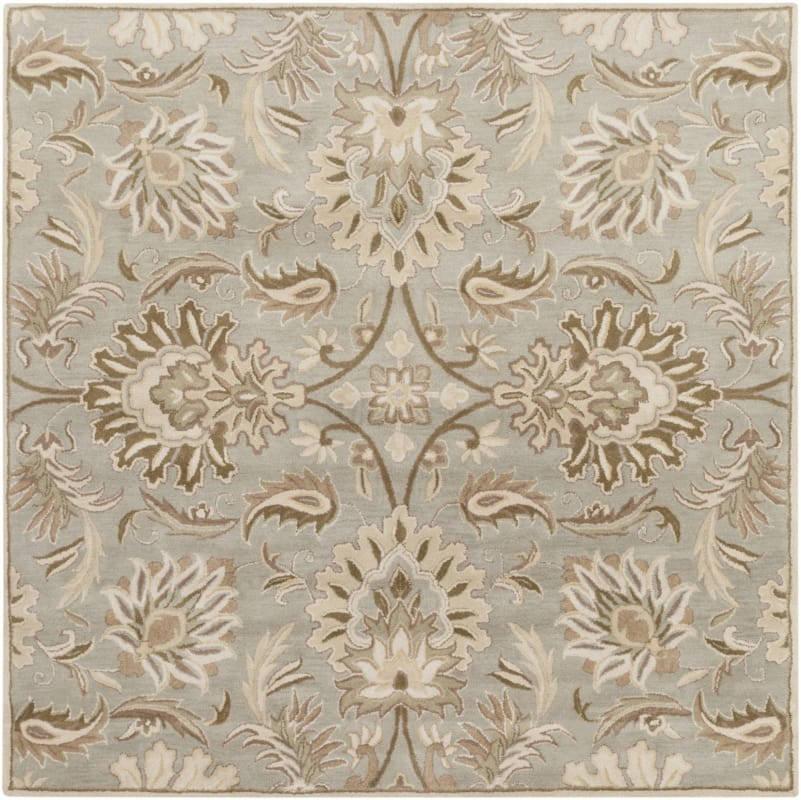 Surya CAE-1111 Caesar Hand Tufted Wool Rug Gray 8 Square Home Decor Sale $722.40 ITEM: bci2670564 ID#:CAE1111-8SQ UPC: 764262565409 :