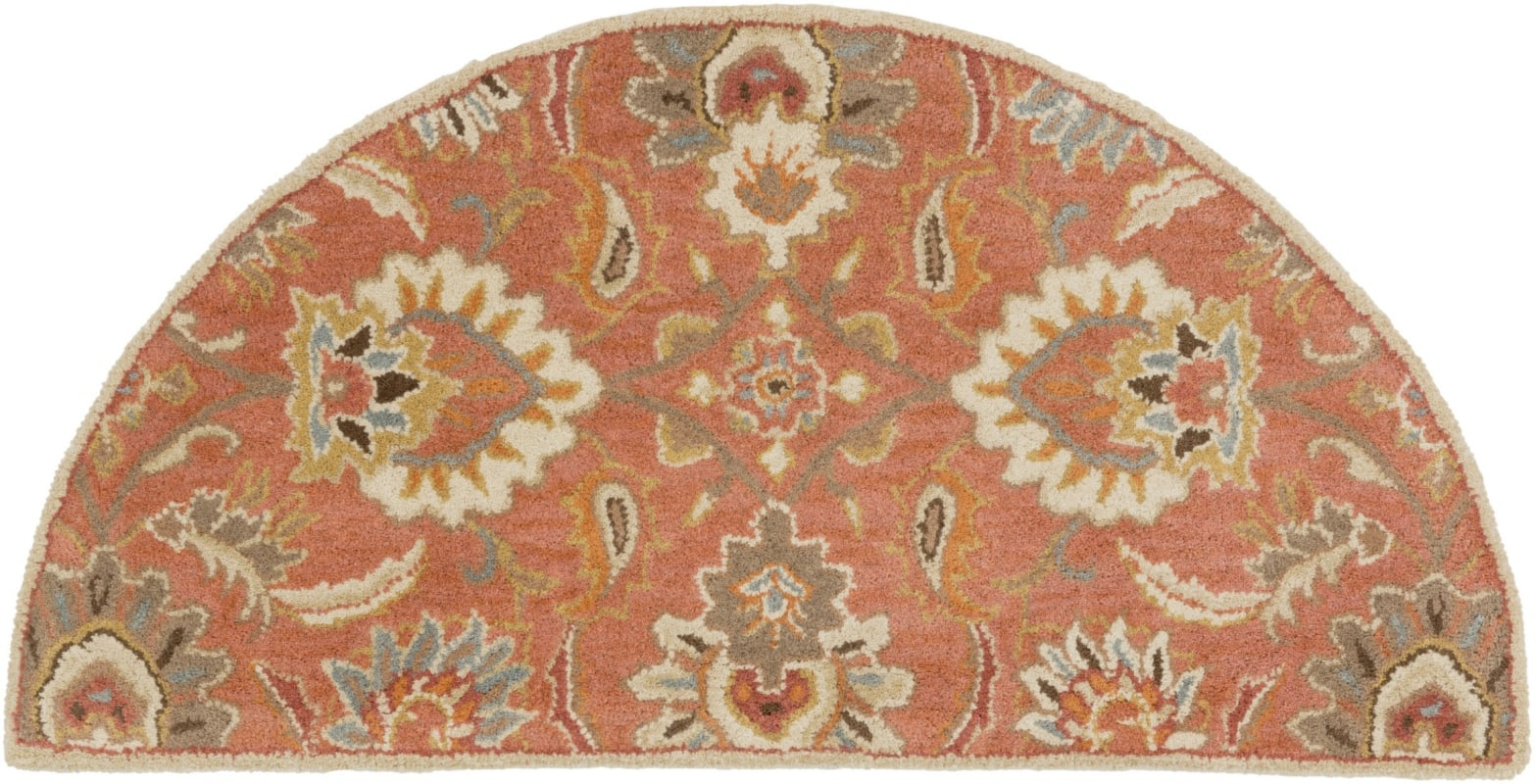Surya CAE-1112 Caesar Hand Tufted Wool Rug Orange 2 x 4 Hearth Home