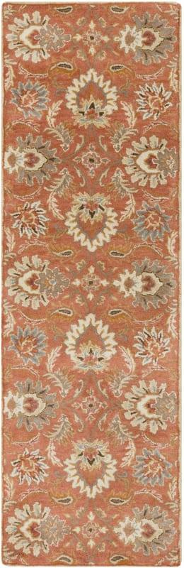 Surya CAE-1112 Caesar Hand Tufted Wool Rug Orange 2 1/2 x 8 Home Decor