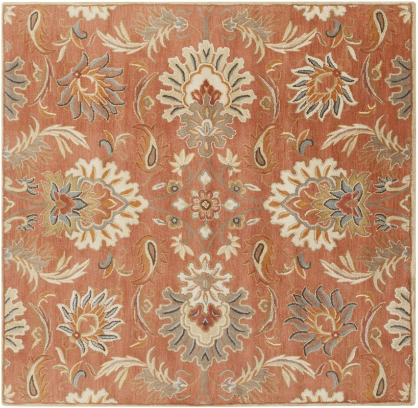Surya CAE-1112 Caesar Hand Tufted Wool Rug Orange 6 Square Home Decor