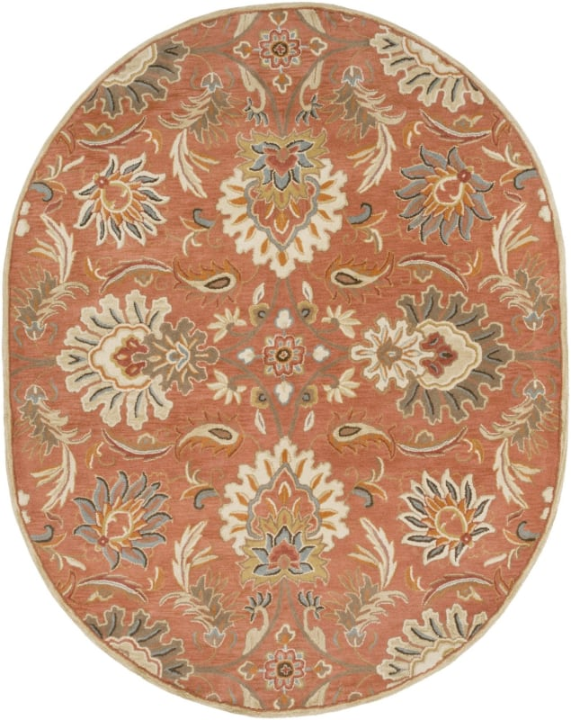 Surya CAE-1112 Caesar Hand Tufted Wool Rug Orange 8 x 10 Oval Home Sale $904.20 ITEM: bci2670583 ID#:CAE1112-810OV UPC: 764262931013 :