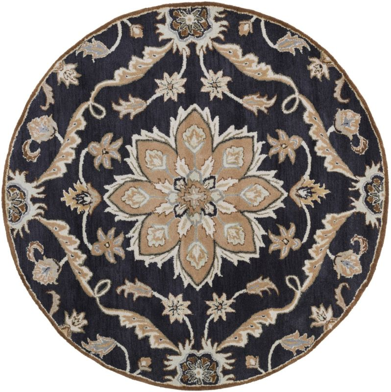 Surya CAE-1113 Caesar Hand Tufted Wool Rug Blue 4 Round Home Decor Sale $182.40 ITEM: bci2670597 ID#:CAE1113-4RD UPC: 764262931150 :