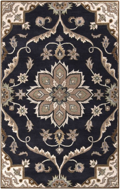 Surya CAE-1113 Caesar Hand Tufted Wool Rug Blue 5 x 8 Home Decor Rugs