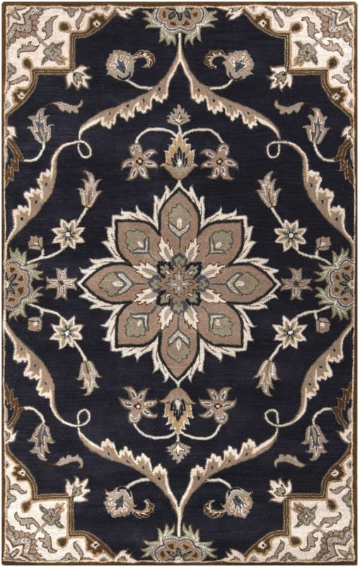 Surya CAE-1113 Caesar Hand Tufted Wool Rug Blue 6 x 9 Home Decor Rugs