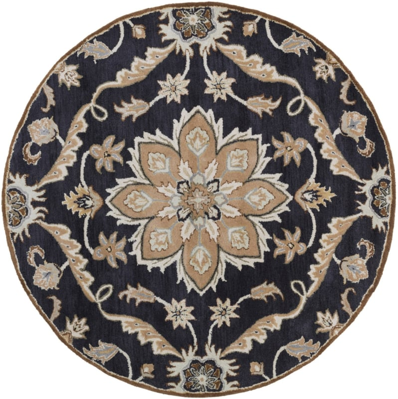 Surya CAE-1113 Caesar Hand Tufted Wool Rug Blue 6 Round Home Decor Sale $408.60 ITEM: bci2670602 ID#:CAE1113-6RD UPC: 764262931068 :