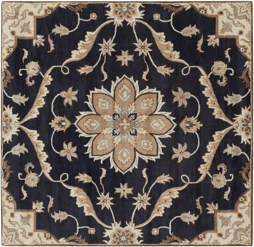 Surya CAE-1113 Caesar Hand Tufted Wool Rug Blue 6 Square Home Decor