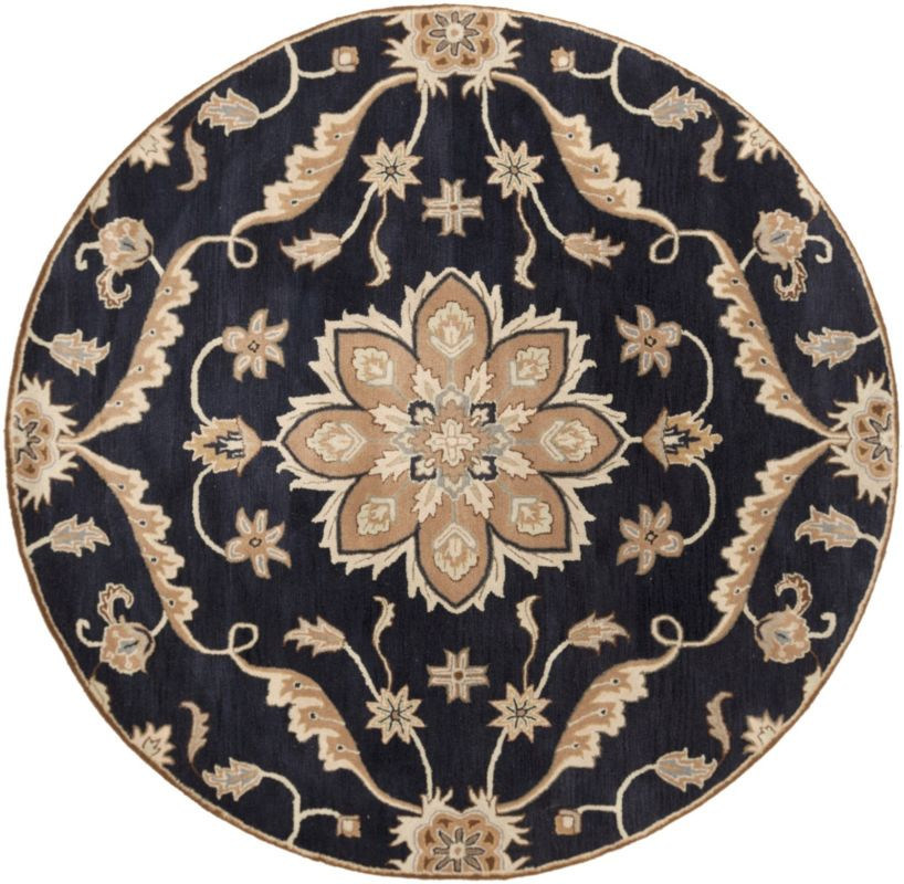 Surya CAE-1113 Caesar Hand Tufted Wool Rug Blue 8 Round Home Decor