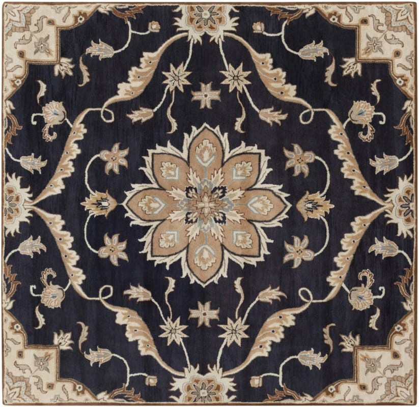 Surya CAE-1113 Caesar Hand Tufted Wool Rug Blue 8 Square Home Decor