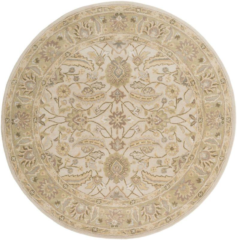 Surya CAE-1114 Caesar Hand Tufted Wool Rug Off-White 4 Round Home Sale $182.40 ITEM: bci2670619 ID#:CAE1114-4RD UPC: 764262932164 :
