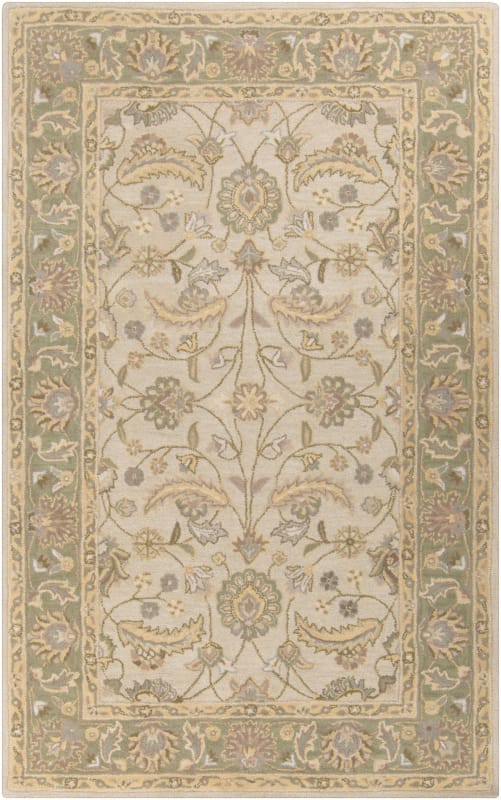 Surya CAE-1114 Caesar Hand Tufted Wool Rug Off-White 5 x 8 Home Decor Sale $369.60 ITEM: bci2670621 ID#:CAE1114-58 UPC: 764262931907 :