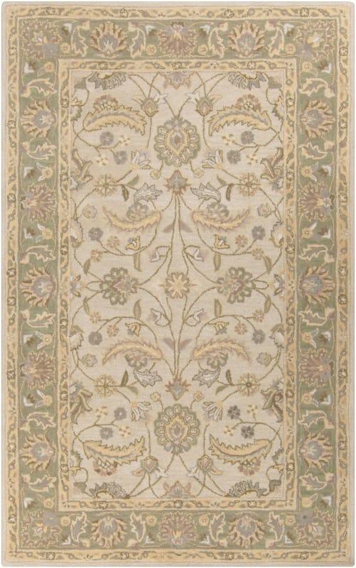 Surya CAE-1114 Caesar Hand Tufted Wool Rug Off-White 6 x 9 Home Decor