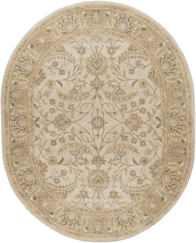 Surya CAE-1114 Caesar Hand Tufted Wool Rug Off-White 8 x 10 Oval Home Sale $904.20 ITEM: bci2670627 ID#:CAE1114-810OV UPC: 764262932362 :