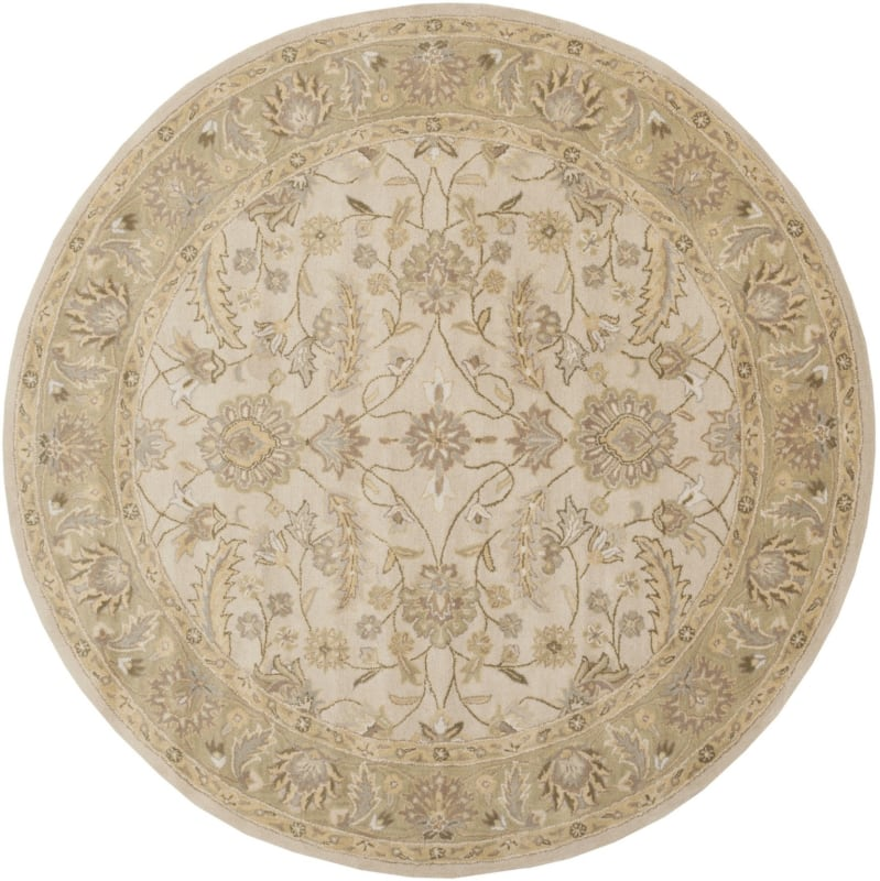 Surya CAE-1114 Caesar Hand Tufted Wool Rug Off-White 8 Round Home Sale $722.40 ITEM: bci2670188 ID#:CAE1114-8RD UPC: 764262932010 :