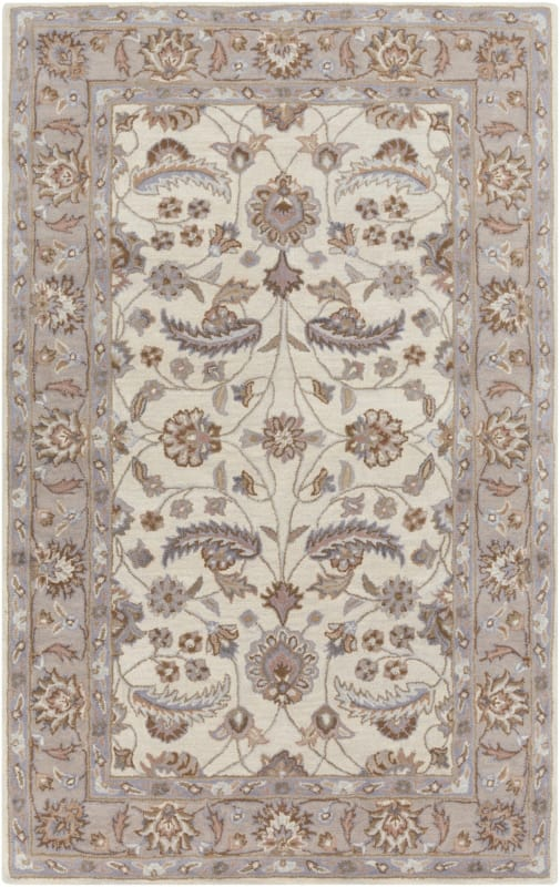 Surya CAE-1115 Caesar Hand Tufted Wool Rug Off-White 5 x 8 Home Decor Sale $369.60 ITEM: bci2670202 ID#:CAE1115-58 UPC: 764262933130 :