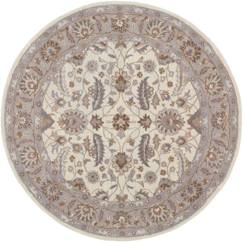 Surya CAE-1115 Caesar Hand Tufted Wool Rug Off-White 6 Round Home Sale $408.60 ITEM: bci2670205 ID#:CAE1115-6RD UPC: 764262933147 :