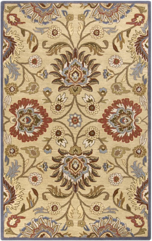 Surya CAE-1116 Caesar Hand Tufted Wool Rug Off-White 4 x 6 Home Decor