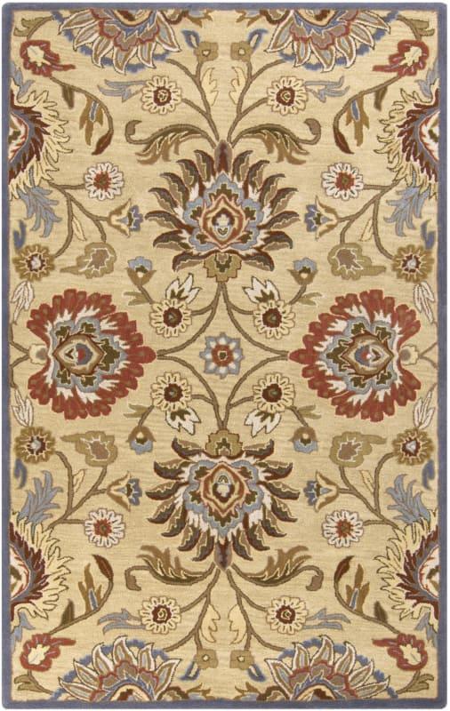 Surya CAE-1116 Caesar Hand Tufted Wool Rug Off-White 6 x 9 Oval Home