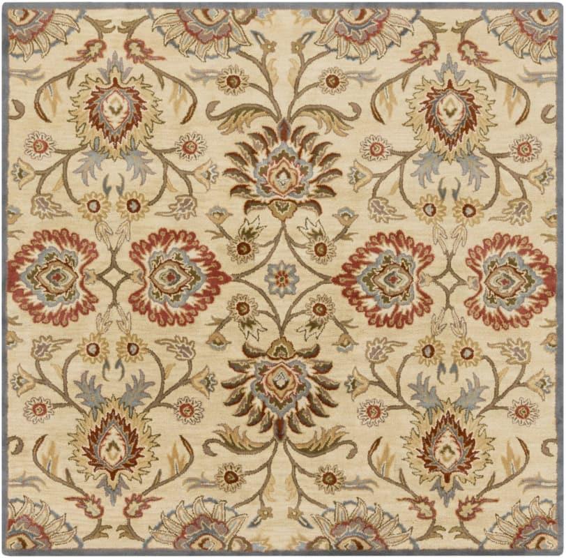 Surya CAE-1116 Caesar Hand Tufted Wool Rug Off-White 8 Square Home Sale $722.40 ITEM: bci2670233 ID#:CAE1116-8SQ UPC: 764262933925 :