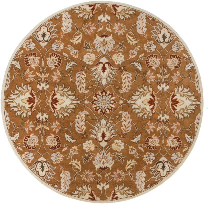 Surya CAE-1117 Caesar Hand Tufted Wool Rug Brown 8 Round Home Decor Sale $722.40 ITEM: bci2670254 ID#:CAE1117-8RD UPC: 764262934236 :