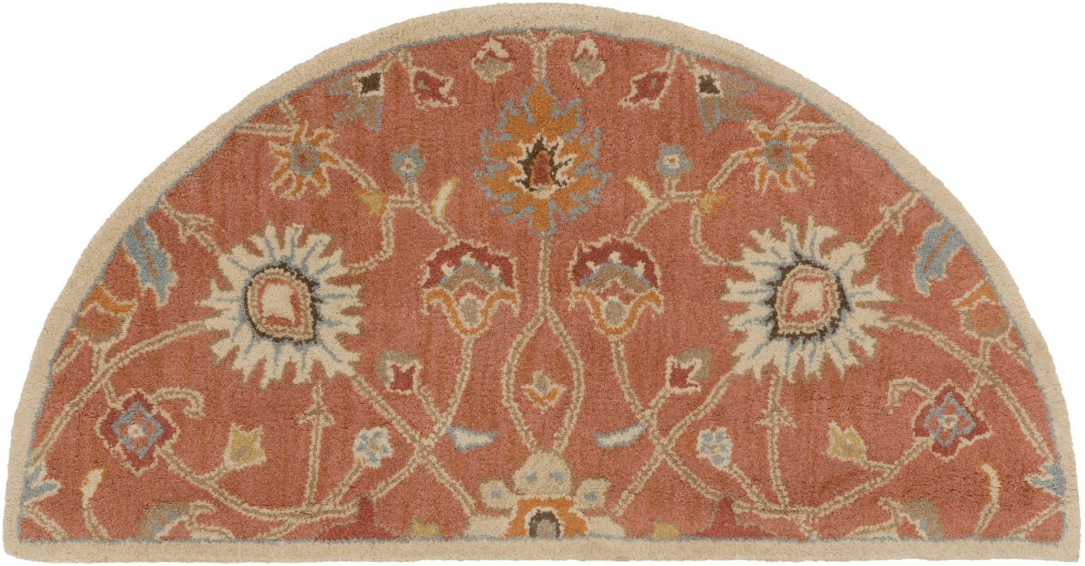 Surya CAE-1119 Caesar Hand Tufted Wool Rug Orange 2 x 4 Hearth Home
