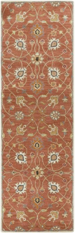Surya CAE-1119 Caesar Hand Tufted Wool Rug Orange 2 1/2 x 8 Home Decor