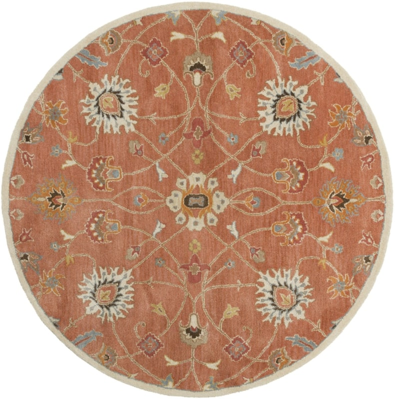 Surya CAE-1119 Caesar Hand Tufted Wool Rug Orange 4 Round Home Decor