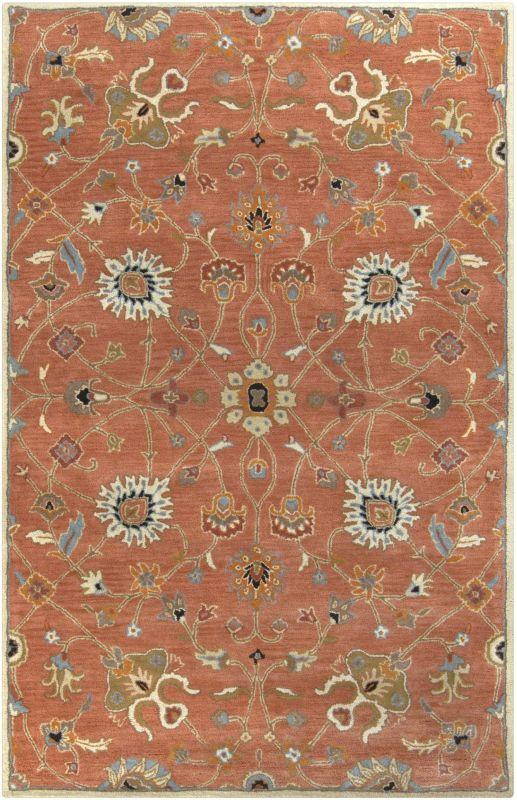 Surya CAE-1119 Caesar Hand Tufted Wool Rug Orange 6 x 9 Oval Home