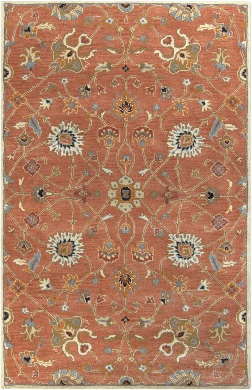 Surya CAE-1119 Caesar Hand Tufted Wool Rug Orange 7 1/2 x 9 1/2 Home