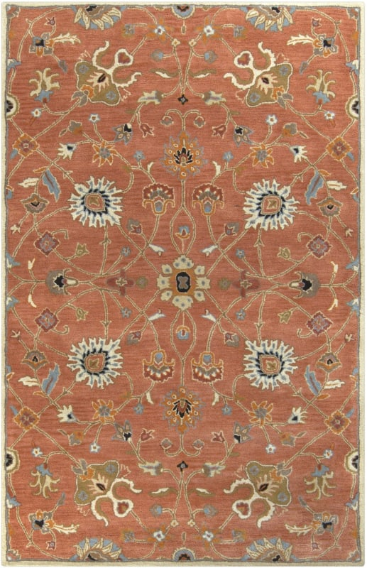 Surya CAE-1119 Caesar Hand Tufted Wool Rug Orange 8 x 11 Home Decor