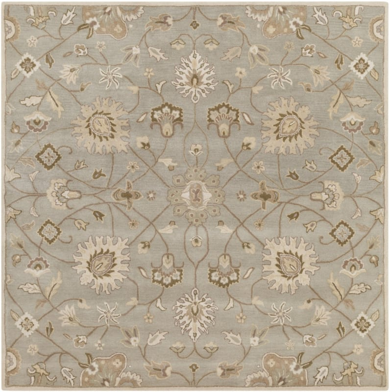 Surya CAE-1121 Caesar Hand Tufted Wool Rug Off-White 8 Square Home