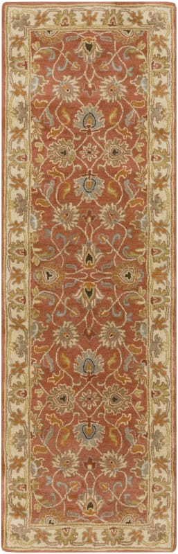Surya CAE-1124 Caesar Hand Tufted Wool Rug Orange 2 1/2 x 8 Home Decor