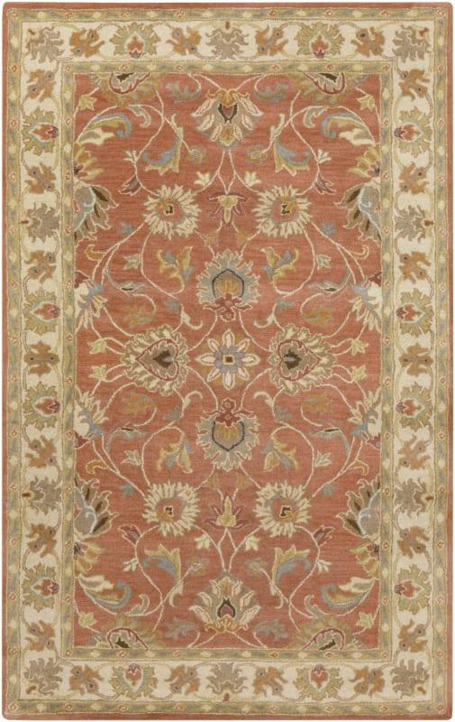 Surya CAE-1124 Caesar Hand Tufted Wool Rug Orange 3 x 12 Home Decor