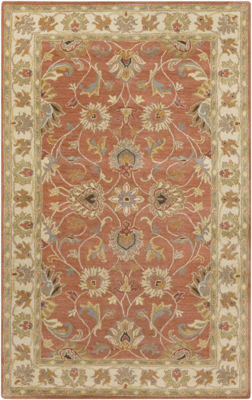 Surya CAE-1124 Caesar Hand Tufted Wool Rug Orange 4 x 6 Home Decor
