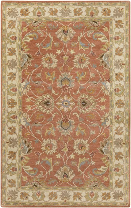 Surya CAE-1124 Caesar Hand Tufted Wool Rug Orange 7 1/2 x 9 1/2 Home