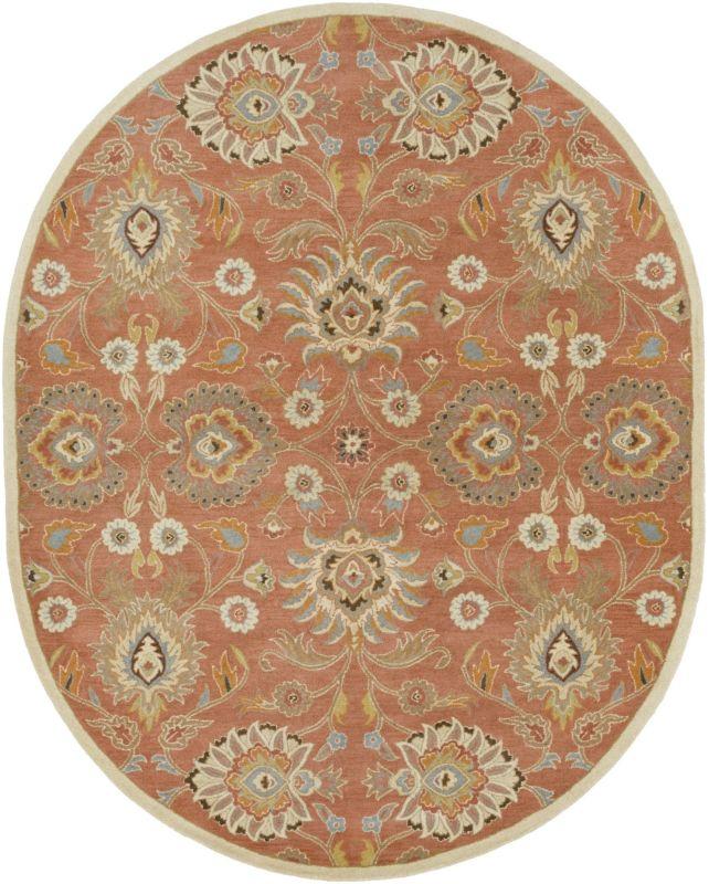 Surya CAE-1124 Caesar Hand Tufted Wool Rug Orange 8 x 10 Oval Home
