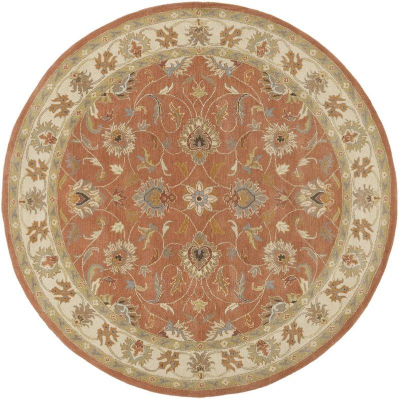 Surya CAE-1124 Caesar Hand Tufted Wool Rug Orange 10 Round Home Decor