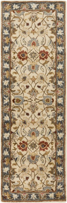 Surya CAE-1125 Caesar Hand Tufted Wool Rug Gold 2 1/2 x 8 Home Decor