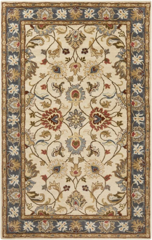 Surya CAE-1125 Caesar Hand Tufted Wool Rug Gold 4 x 6 Home Decor Rugs