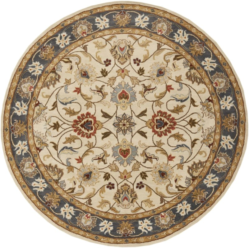 Surya CAE-1125 Caesar Hand Tufted Wool Rug Gold 4 Round Home Decor Sale $182.40 ITEM: bci2669753 ID#:CAE1125-4RD UPC: 764262938678 :