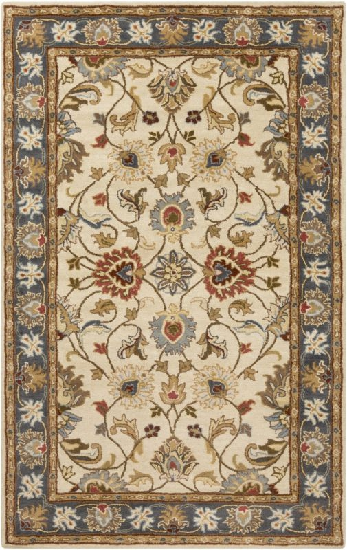 Surya CAE-1125 Caesar Hand Tufted Wool Rug Gold 6 x 9 Oval Home Decor