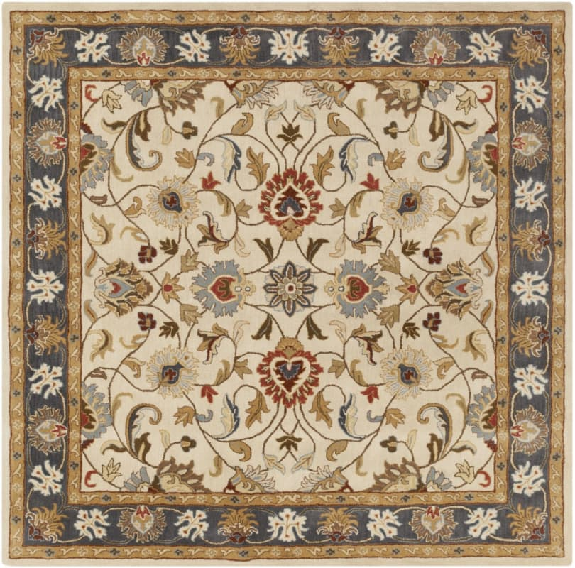 Surya CAE-1125 Caesar Hand Tufted Wool Rug Gold 6 Square Home Decor