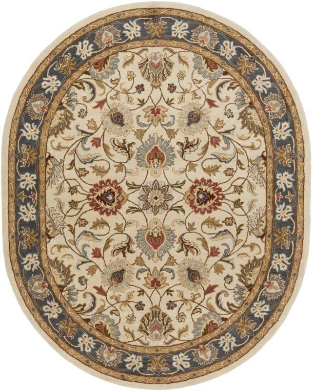 Surya CAE-1125 Caesar Hand Tufted Wool Rug Gold 8 x 10 Oval Home Decor